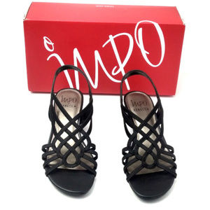 Impo Roma Stretch Wedge Sandals Black 7.5M
